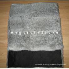 cojín gris natural de la piel del conejo de chinchilla del color para el sofá