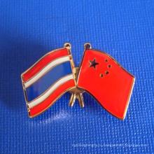 Штыри отворотом флага выгравированного изготовленного на заказ значка эпоксидной смолы (GZHY-LP-002)
