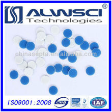 9-425 9 mm * 1 mm blanc bleu silicone PTFE septa