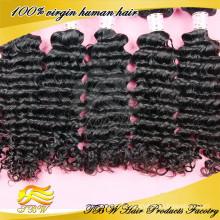 100% de vrais cheveux bouclés noirs clip dans les extensions de cheveux pour amincir les cheveux afro-américain