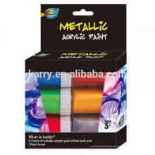 A0100 Metallic-Acrylfarbe für Kinder