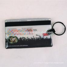 Promotionnel rectangle forme de carte d'identité a conduit trousseau