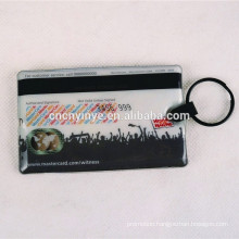 Promotional rectangle ID card shape led keychain