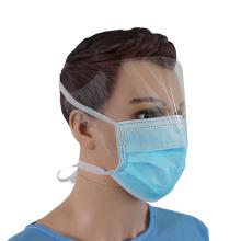 Masque facial en tissu non tissé à usage unique avec bouclier