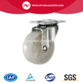 1 1/2 'Light Duty Swivel White PP Industrial Caster