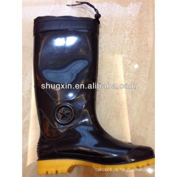 botas de lluvia de pvc durable Varonil caliente