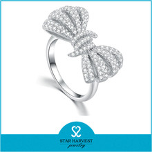 China Wholesale Rhodium Plated Machines Fashion Ring (R-0640)