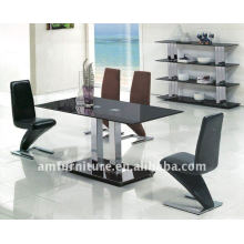 Modern Tempered Glass Dining Table
