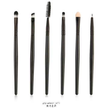 6-teiliges professionelles Lidschatten-Pinsel-Set