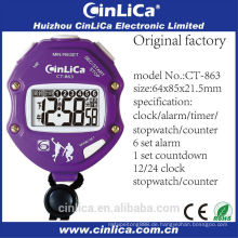 CT-863 Split Memory Stoppuhr, Kunststoff Digitaluhr, Fahrrad Stoppuhr