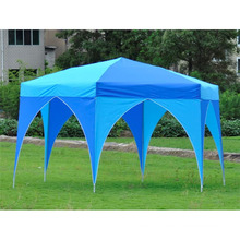 Garden outdoor iron folding pop up hexagonal gazebo