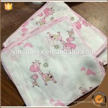 baby use bamboo cotton saliva towel soft bibulous