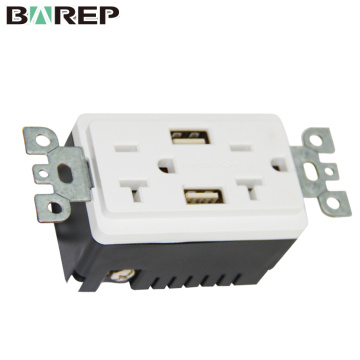 Factory direct wholesale GFCI wall socket usb outlet retractable