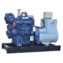 Ship 250kw 340hp Marine Diesel Genset   Powered by Weichai Engine WP12CD317E200 Stamford Alternator Put On Ship Deak