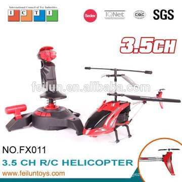 2.4G 3.5ch gyro metal rc helicopter with lights and gyro