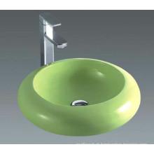 Banheiro Cerâmica Verde Bacia de bancada de cerâmica (7001G)