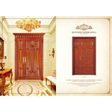 Hot Sale Design moderne Double porte coulissante en bois en verre pour salon