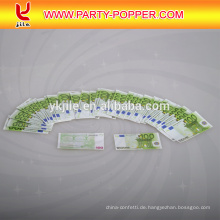 Hochwertige Custom Print Euro / Dollar Geld Papier Konfetti Party Popper