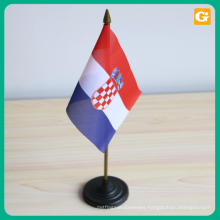 Custom Design Mini Table Flag Stand For Decoration Or Advertising