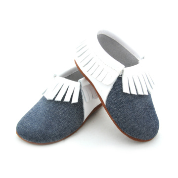 Kasut Barangan elastik Soft Leather Sole Baby Moccasins