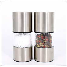 Stainless manual salt and pepper grinder mill set