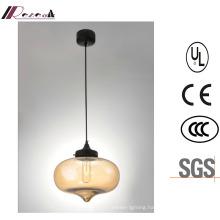 Modern Dining Room Glass Sing-Hand Pendant Lamp
