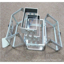 Les nouveaux cas cosmétique pliables acryliques de 2015 de style (hx-q051)
