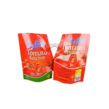 носик-пакетик пластиковой упаковки на заказ для томатного кетчупа