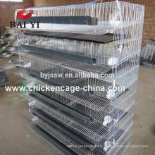 Cellules chaudes de caille de grillage de vente d'usine de BAIYI avec l'abreuvoir automatique