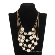 Collier de chaîne de perle de cinq rouleaux (XJW13598)