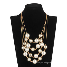 Five Rolls Pearl Chain Necklace (XJW13598)