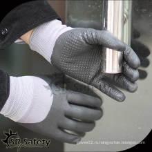 SRSAFETY 15G трикотажные нитриловые защитные перчатки нитрилового продукта