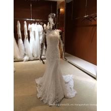 Aoliweiya diseño verdadero vestido de boda de la boda sirena
