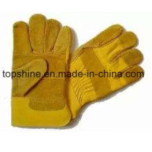 Рабочие Мода труда Промышленная безопасность Cowhide Split Leather Gloves