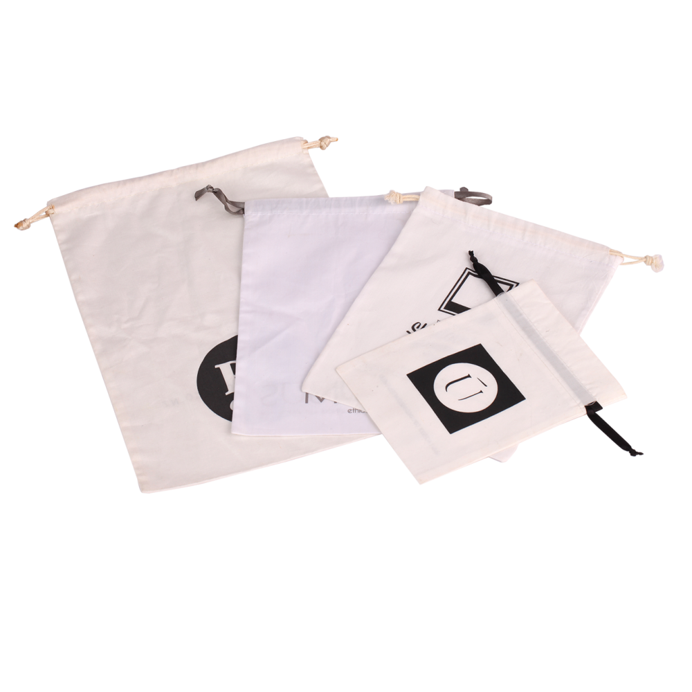 White Cotton Packaging Bags