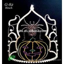 New rhinestone pumpkin face tiara halloween crowns