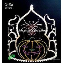 Novas coroas de coroa de diabrete de tiara de rosto de abóbora de strass