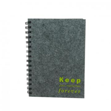 GREY CLOTH COVER NOTEBOOK-0