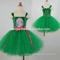 2017 hot sale Europe and America girl fashion Christmas princess costume green color baby girl cosplay ballet tutu dress