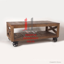 Natural Wooden Plasma with iron wheels