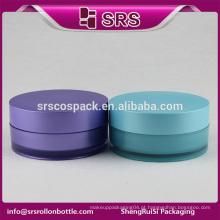 SRS livre amostra cosméticos creme frasco vazio, 100ml cosméticos acrílico corpo creme frasco
