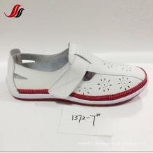 Mais recente senhora loafer sapatos lazer couro sapatos (xf1371-1)