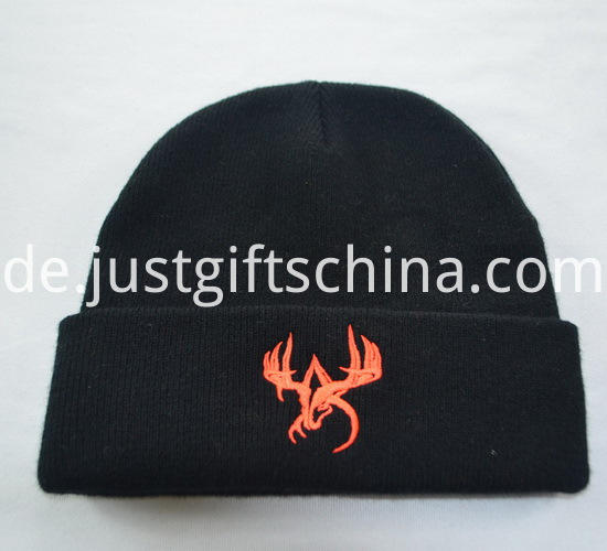 Promotional Black Knitted Caps with Logo3