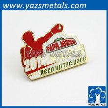 Imitación esmalte lapela pin para la promoción de ventas de pizza