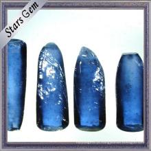 # 34 Matéria-prima de Corindo Azul Safira Sintética