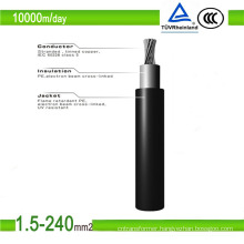 6mm2 Black Sheathed PV1-F DC Solar Cable (TUV Approved)