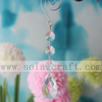 Newest Chandelier Teardrop Clear Dangle Prisms Parts
