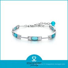2016 nouveau conçu argent Fashion Whosale Gemstone Bracelet