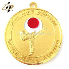 Free Sample custom metal gold silver plated taekwondo medallion karate medals no minimum order