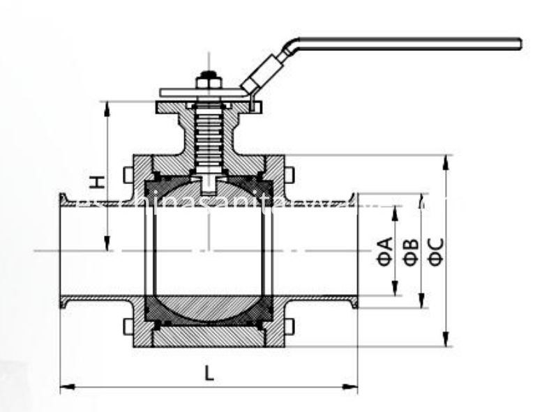 sanitary manual WH ball valves